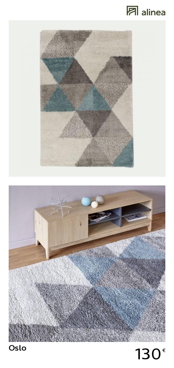 alinea : oslo tapis 160x230cm motifs géométriques - bleu tapis tapis ...