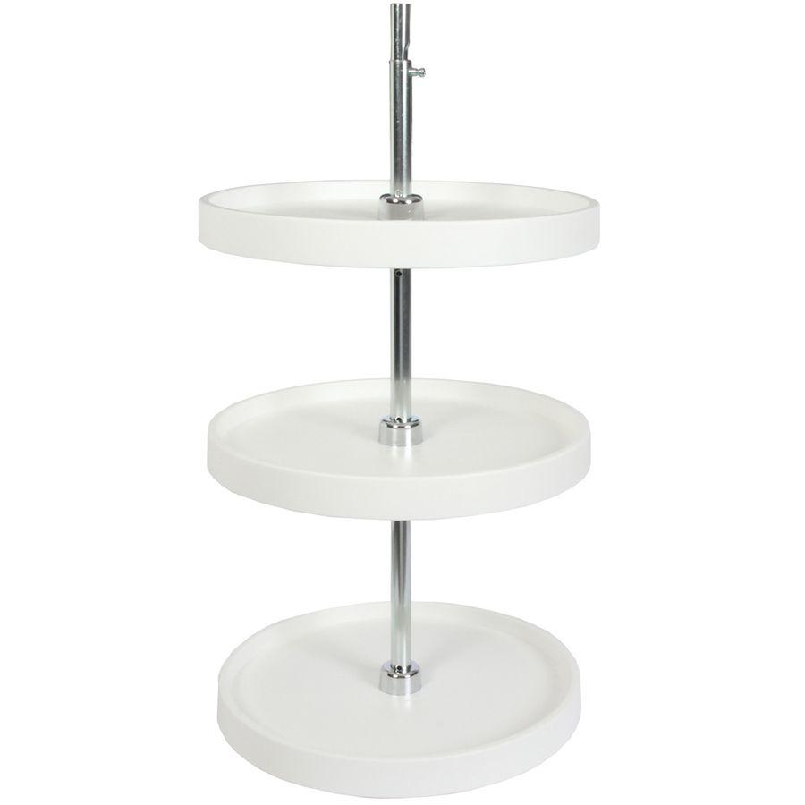 Best Knape Vogt 3 Tier Plastic Full Circle Cabinet Lazy Susan 400 x 300