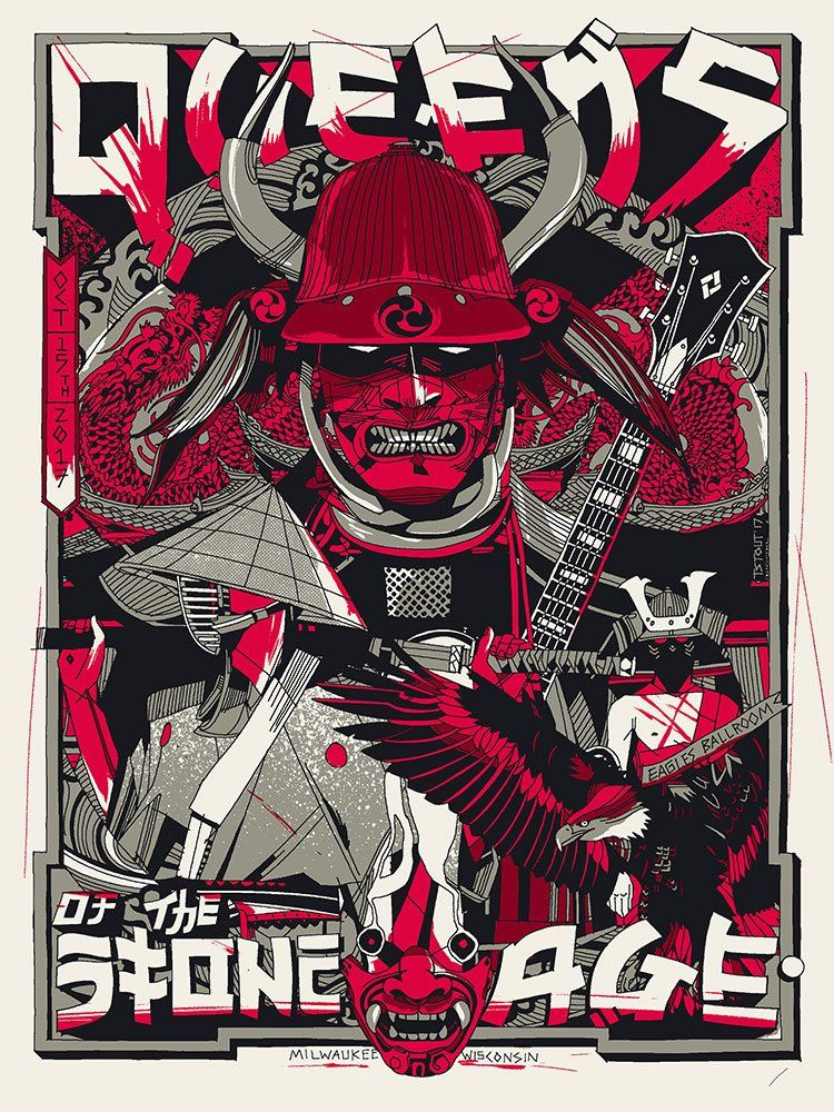 queens of the stone age tyler stout 2017 punk poster gig poster