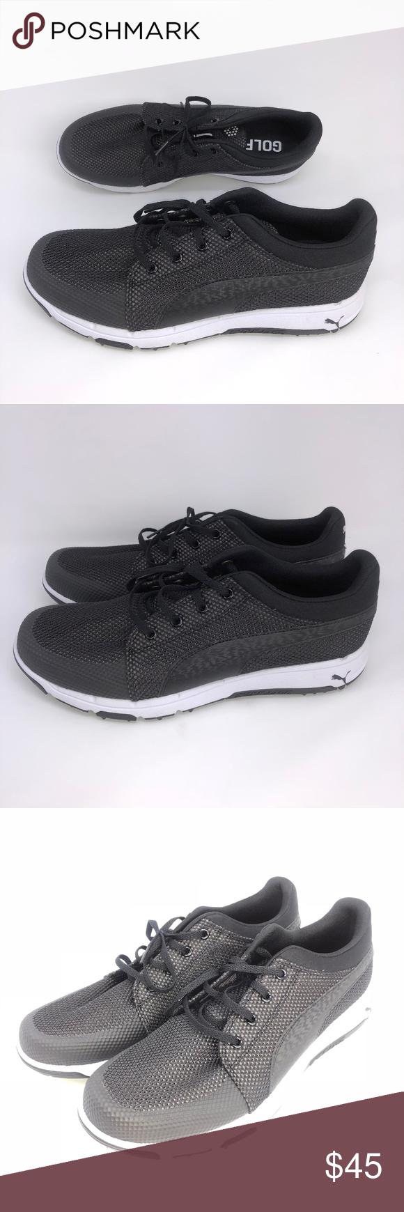 92986d574dc10b NEW Puma Men s Grip Sport Tech Golf Shoes Black NEW Puma Men s Grip Sport  Tech Golf Shoes Black Size 8.5-10.5 Mesh EVA Rubber sole Shaft measures ...