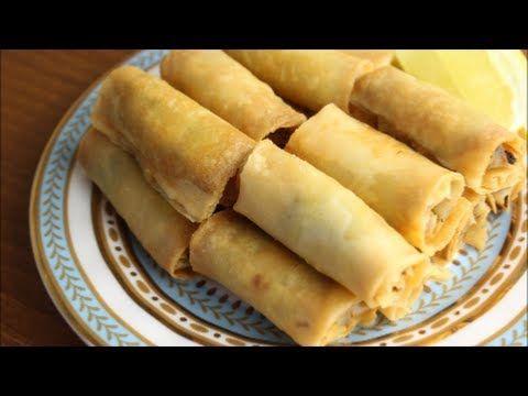 How To Make Chicken Spring Rolls سبرنج رول بحشوة الدجاج Chicken Spring Rolls Spring Rolls Lebanese Recipes