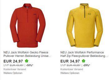 Ebay: Jack Wolfskin im Sonderverkauf zu Preisen ab 25 Euro https://www.discountfan.de/artikel/klamotten_&_schuhe/ebay-jack-wolfskin-im-sonderverkauf-zu-preisen-ab-25-euro.php Bei Ebay läuft derzeit ein Sonderverkauf von Outdoor-Artikeln der Marken Jack Wolfskin, Regatta, Icepack und Blue Wave. Versprochen werden Preisabschläge von bis zu 50 Prozent, der Versand erfolgt frei Haus. Ebay: Jack Wolfskin, Regatta & Co. im Sonderverkauf (Bild: Ebay.de) Der S... #Jacken, #O