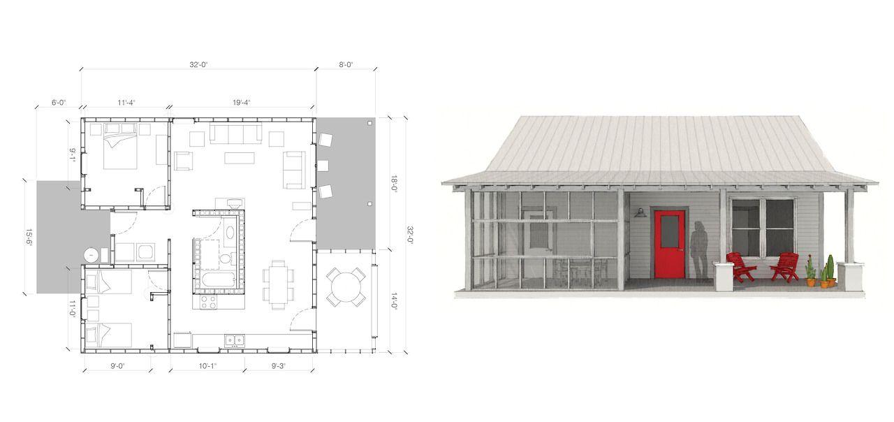 Variation On Square 20 000 House House Floor Plans House Flooring Rural Studio
