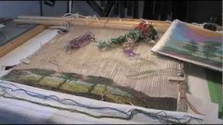 Tapestry Weaving on robbschinnour's channel on YouTube