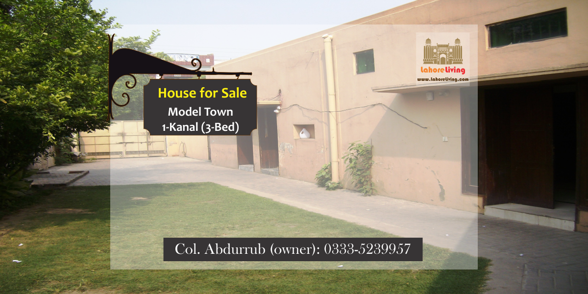 3BED 1KANAL HOUSE IN MODEL TOWN FOR SALE Model town