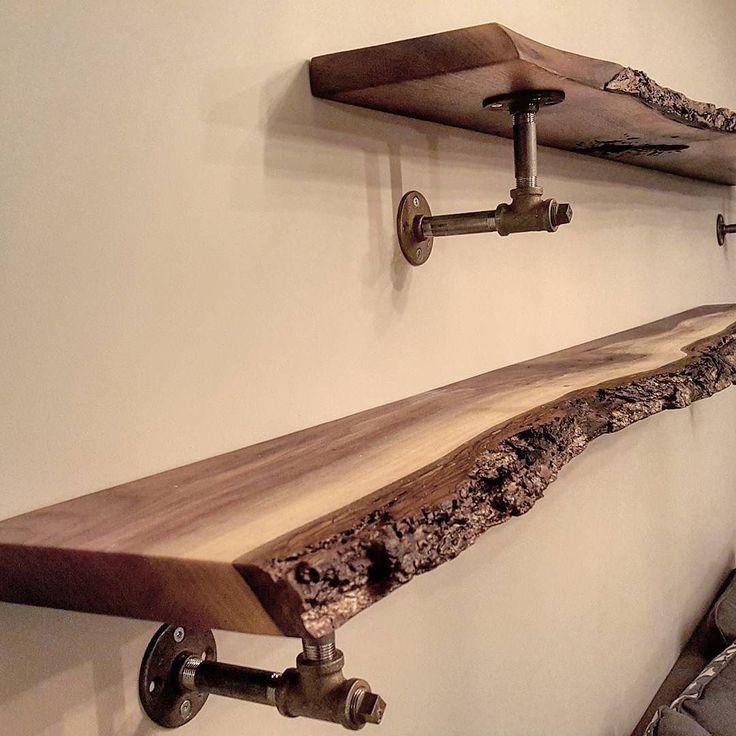 Walnut Shelves Wood In Kitchen Bathroom Brackets For