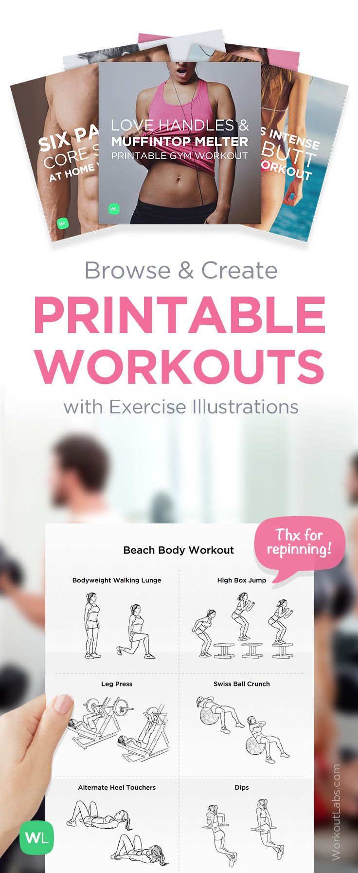 free printable workout plan