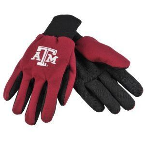 Texas A Aggies NCAA All Purpose Utility Grip Gloves by McArthur. $5.95. Embroidered logo. Officially Licensed. 2-Tone lightweight grip/utility gloves. Knit cuff, gripper palm. One size fits most ages 13+. 2-Tone NCAA Team Grip Gloves