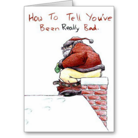 How to tell you have been really bad christmas car greeting cards how to tell you have been really bad christmas car greeting cards hmmm m4hsunfo