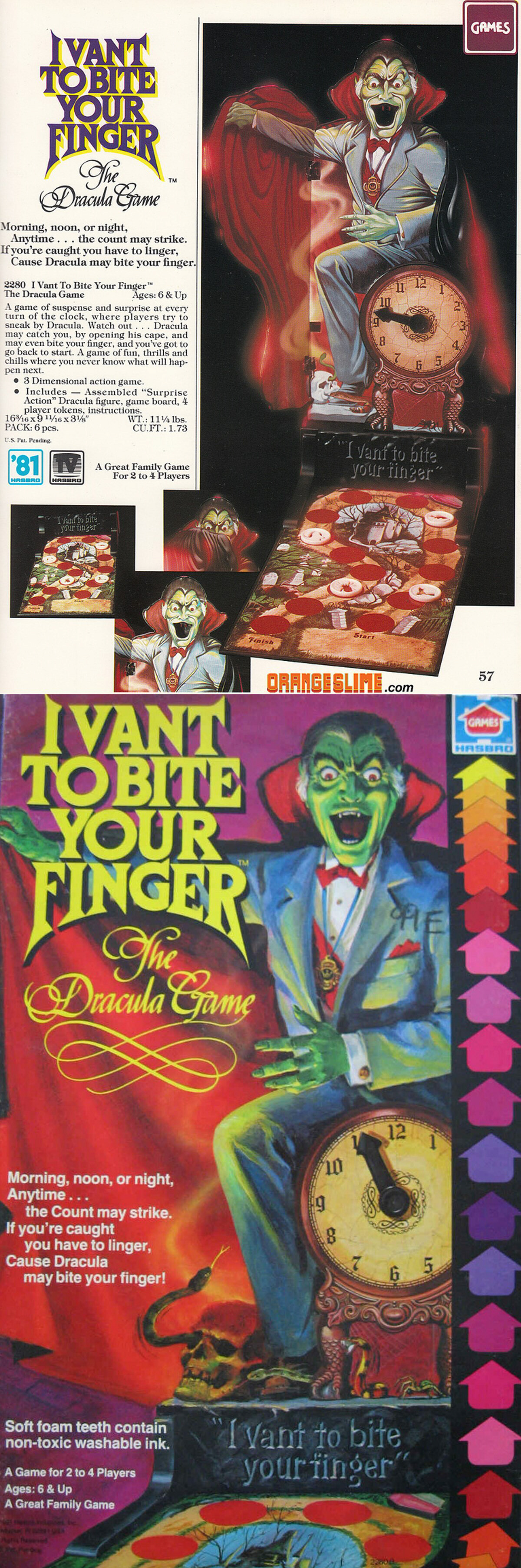 "1979 Hasbro ""I Vant To Bite Your Finger: The Dracula Game"""