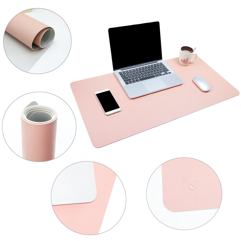 Ysagi Multifunctional Office Desk Pad 31 5 X 15 7 Ultra Thin Waterproof Pu Leather Mouse Pad Dual Use Desk Writing In 2020 Desk Pad Leather Mouse Pad Blue Office Desk