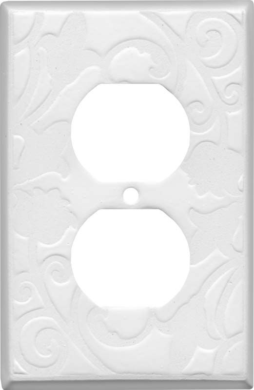 White White Ceramic Wall Plates Outlet Covers Furniture