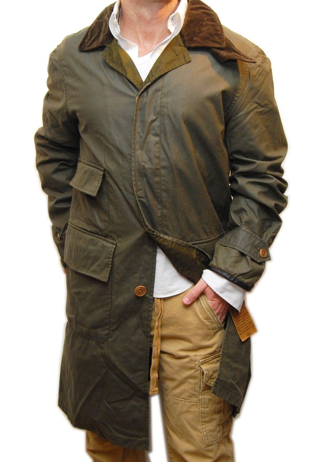 Polo Ralph Lauren Rrl Oiled Waxed Long Trench Coat Jacket Army Olive Green Xl Ebay Link Trench Coat Jackets Men S Coats And Jackets Coat [ 1600 x 1105 Pixel ]