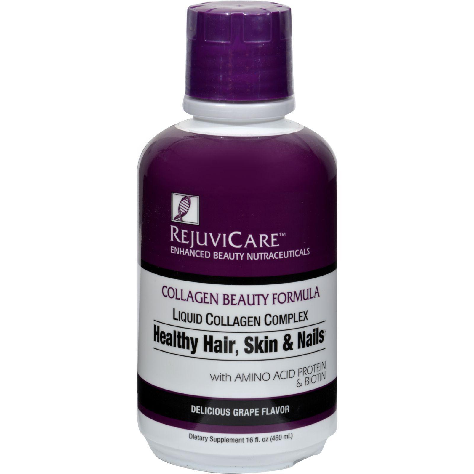 Rejuvicare Liquid Collagen Formula Grape 16 Fl Oz