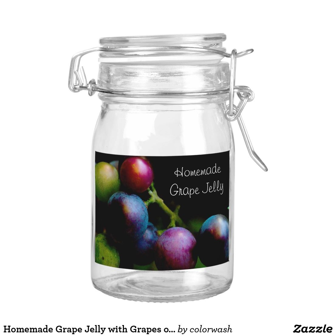 homemade grape jelly with grapes on the vine food label | labels for