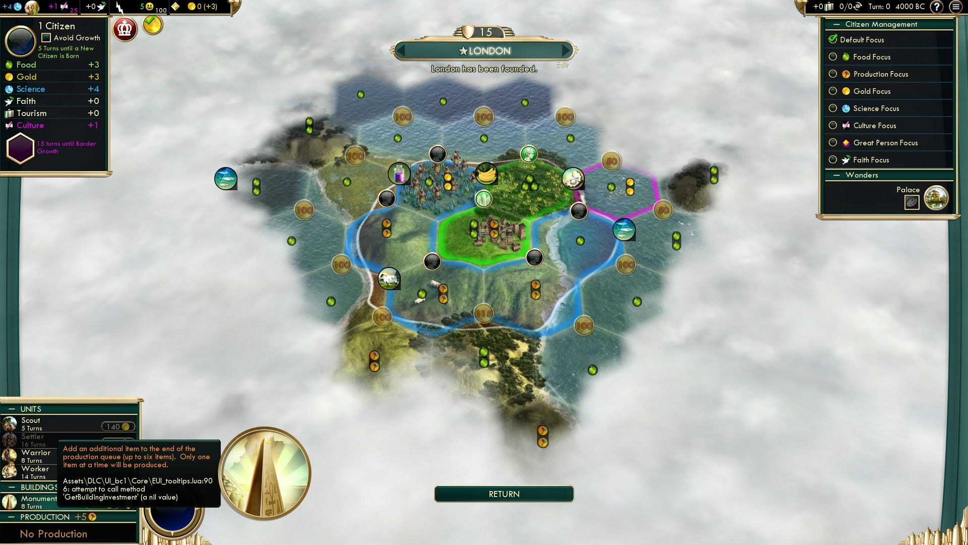 Getting a strange bug so that I cannot tell what the effects of buildings are #CivilizationBeyondEarth #gaming #Civilization #games #world #steam #SidMeier #RTS