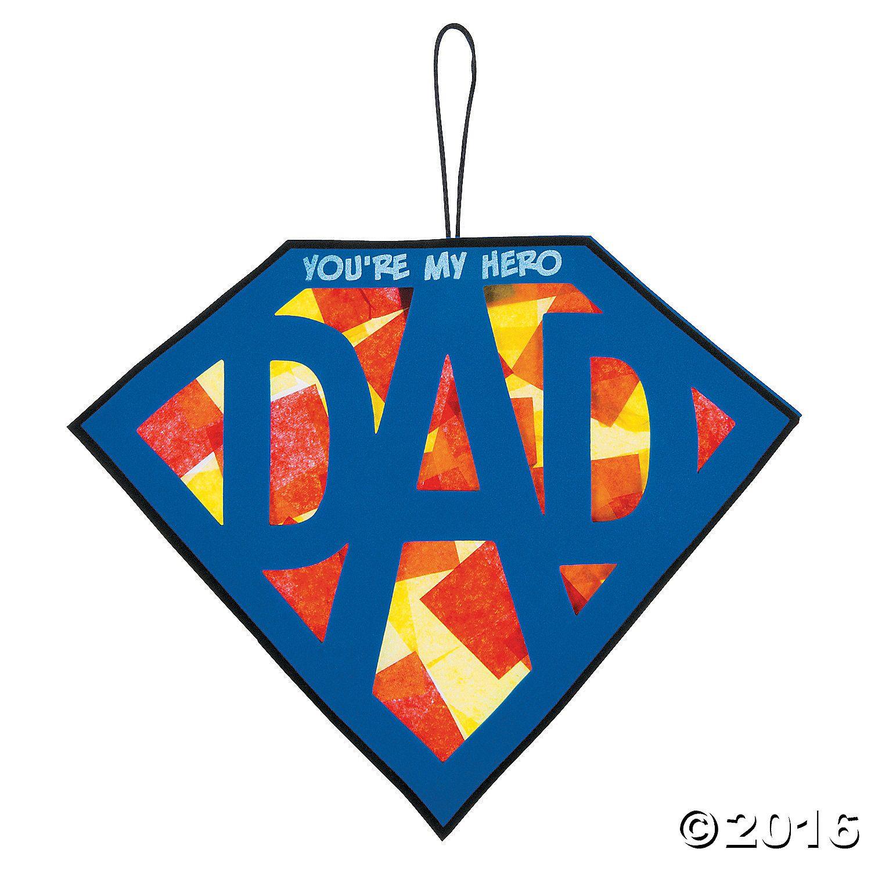 Tissue Paper Super Dad Sign Craft Kit