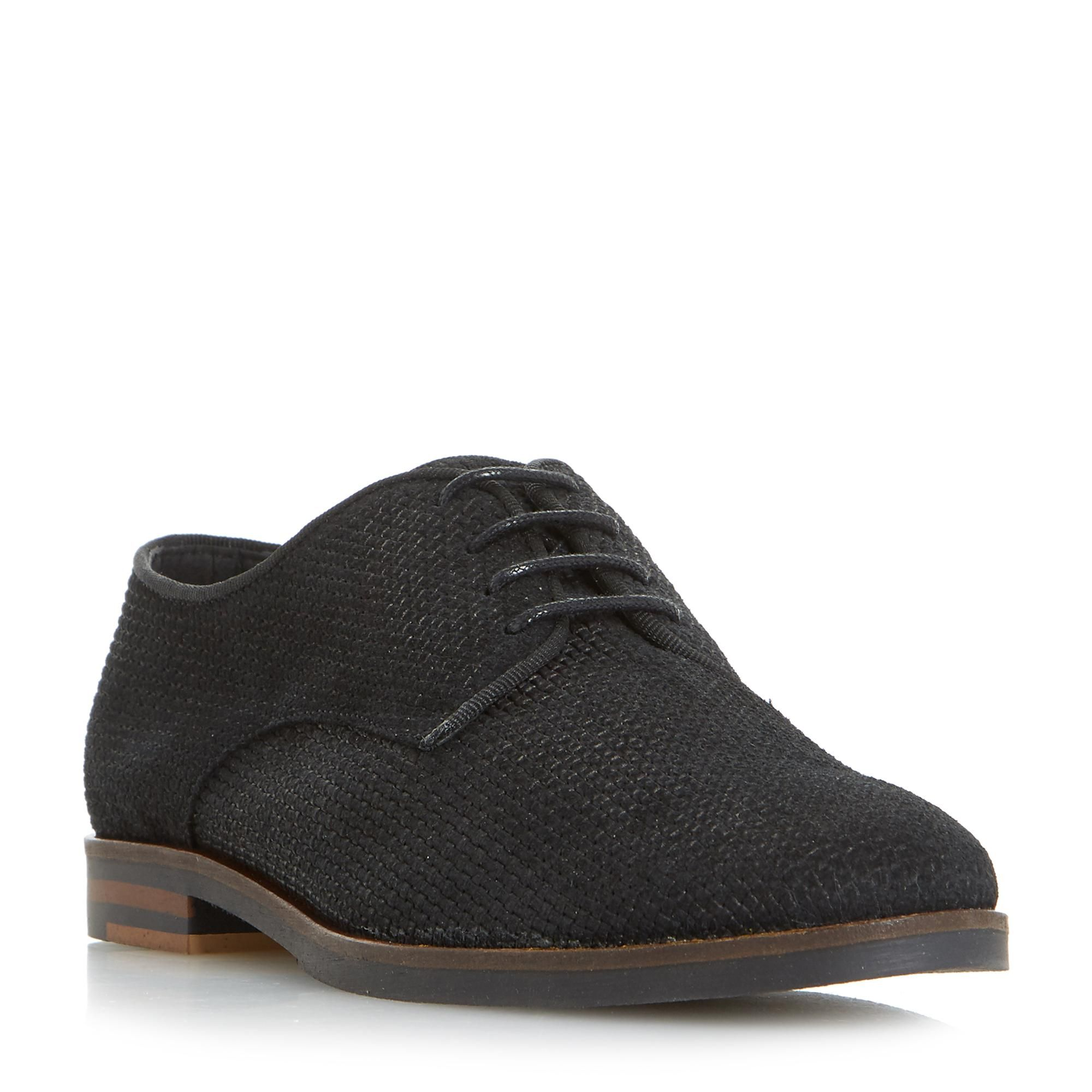 where can i order Black 'Fadia' lace up flat derby shoes buy cheap brand new unisex free shipping perfect S64Qd