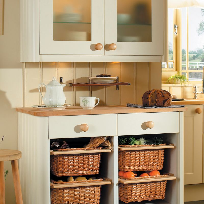 Give Your Kitchen A Facelift Using These Pull Out Wicker Basket Drawers Simply Take Off Cupboard Door And Install Storage Http Bq Co Uk Liqczd