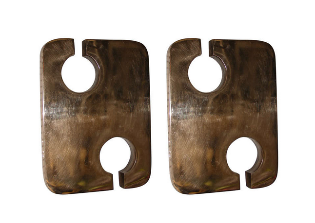 '70s bronze sconces