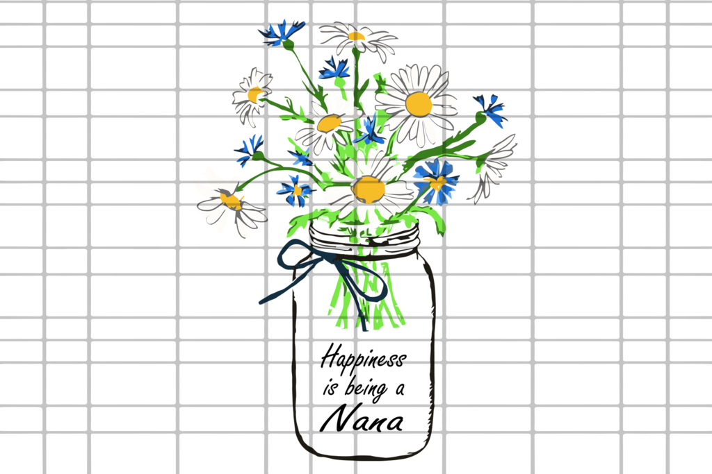 Download Happiness is being a nana svg, mothers day svg, mothers ...
