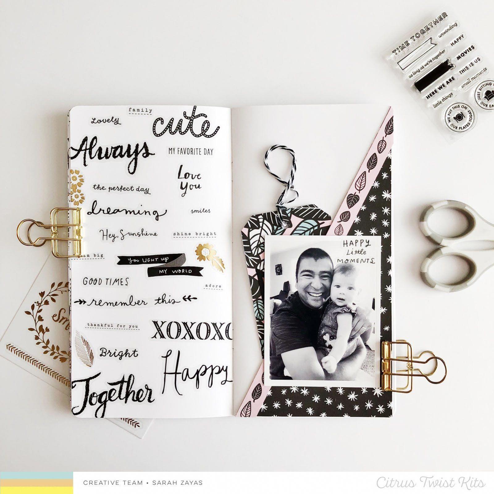 Citrus Twist Kits | Blog : 3-To-Inspire with Sarah | Traveler's Notebook ................................................................