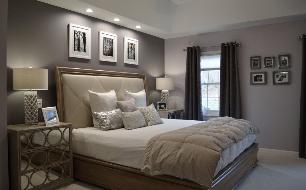 Master Bedroom Remodel Ideas Modern Bedroom with a Silver Floor ...
