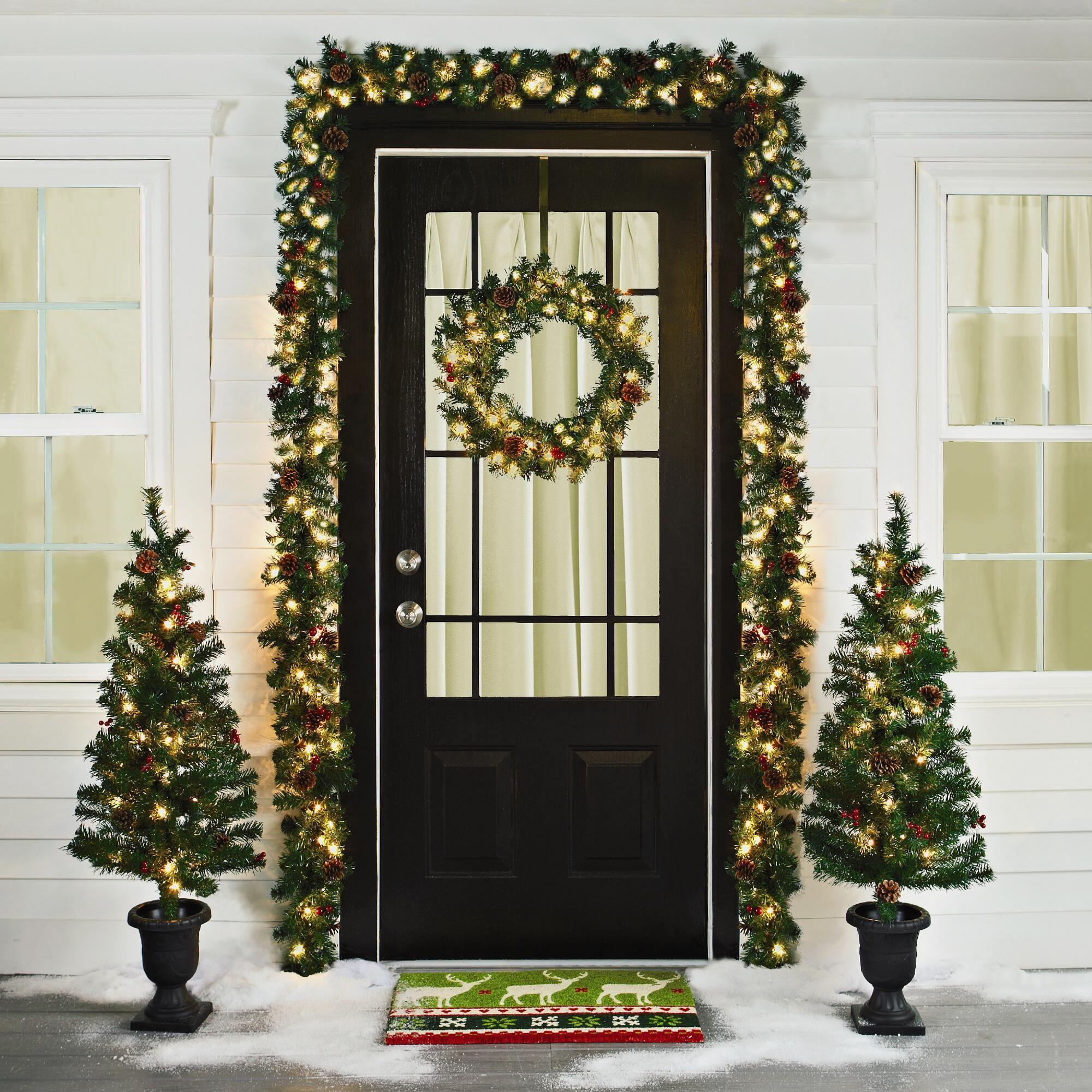 Pre-Lit Entryway Christmas Scene, 6-Piece | Christmas Tree Shops ...