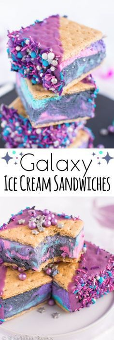 Galaxy Ice Cream Sandwiches #icecreamsandwich