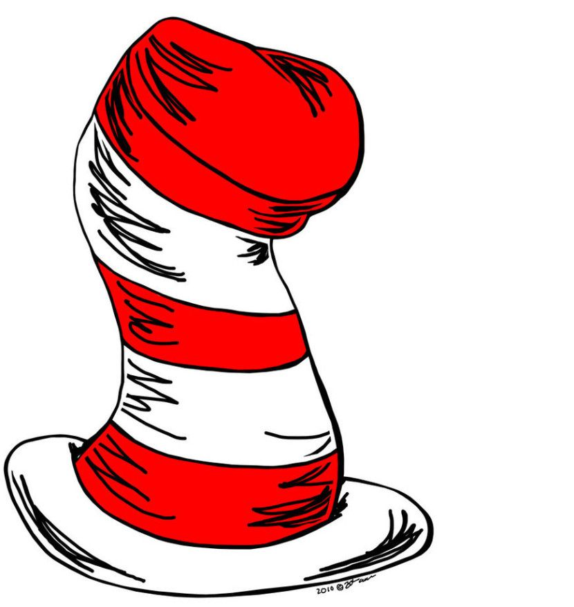 cat in the hat clip art 4 read across america pinterest lorax rh pinterest ca Thing 1 and Thing 2 Clip Art Printable Dr. Seuss Clip Art