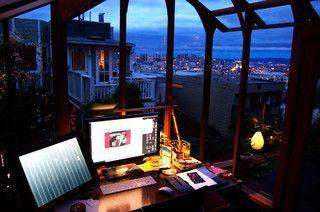Garden Studio - contemporary - home office - san francisco,  #Contemporary #contemporaryofficeinteriorstudios #Francisco #garden #Home #OFFICE #San #Studio