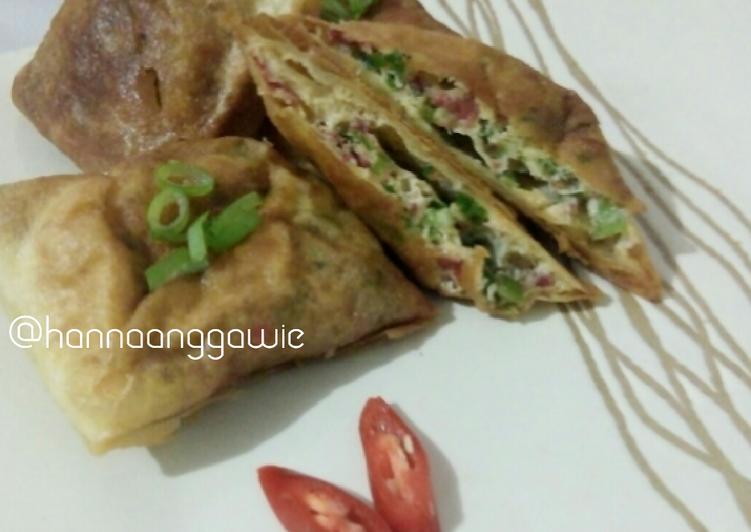 Resep Martabak Telur Kornet Oleh Hanna Anggawie Resep Makanan Telur Resep