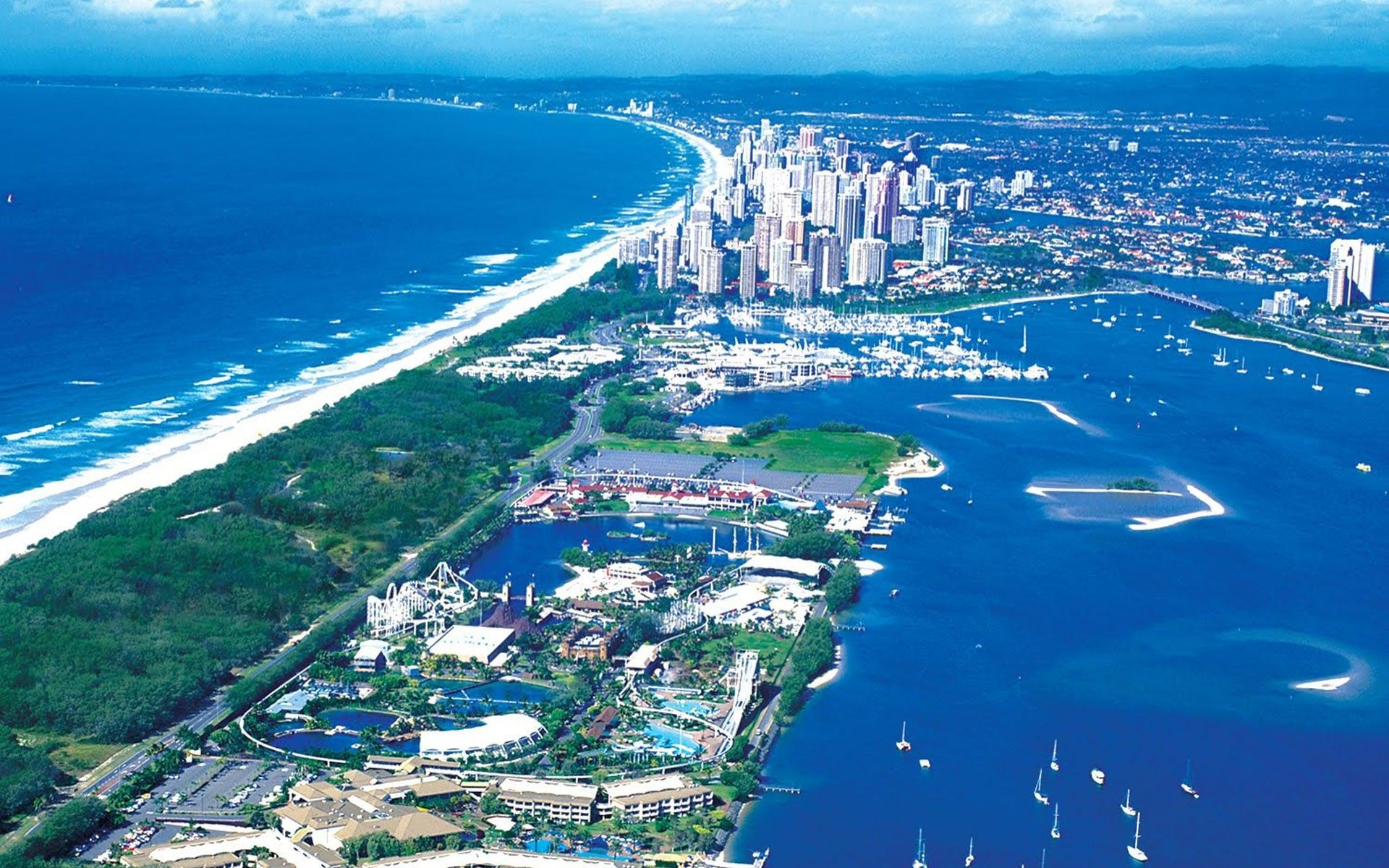 Обои Aerial, Gold Coast Skyline, queensland, Australia. Города foto 12