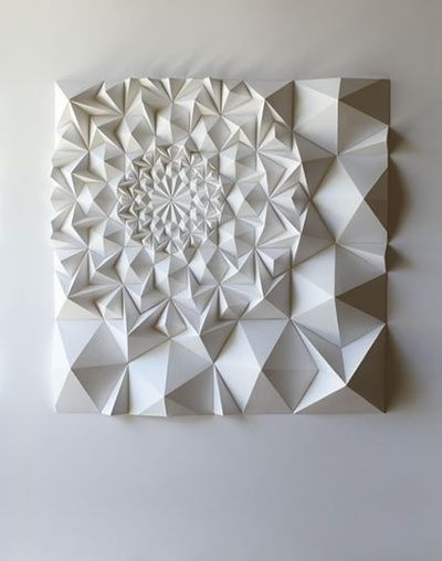 Folded Paper Sculptures by Matt Shlian