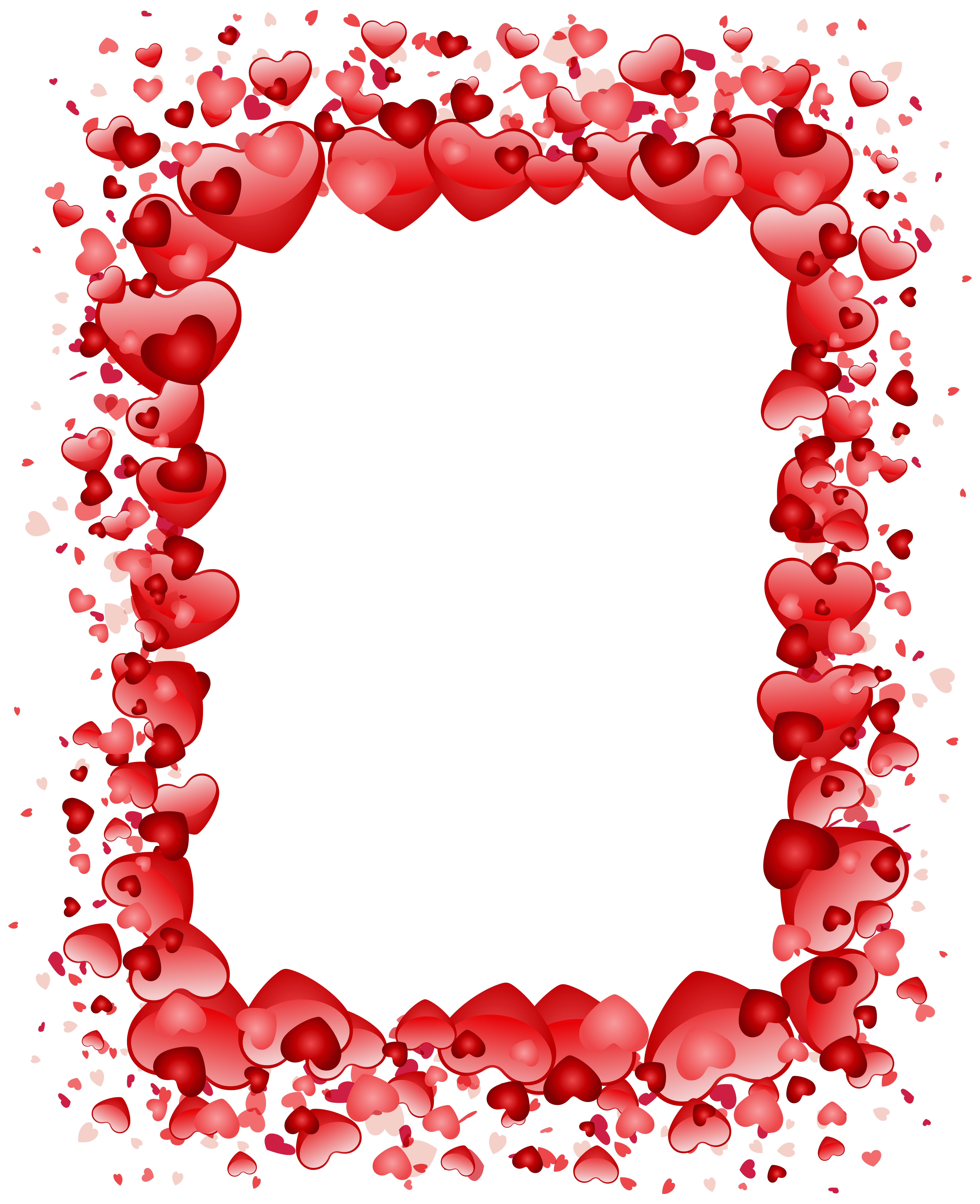 Valentine S Day Hearts Border Transparent Png Clip Art Image Valentines Day Border Valentines Clip Valentines Day Clipart