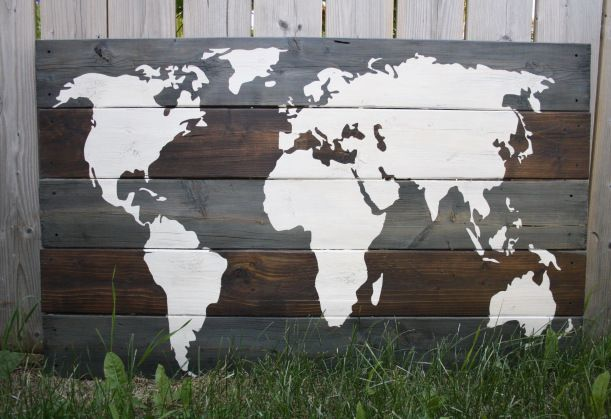 Rustic Wooden Planks White World Map Poster Kzup1 8byvr 540 ...