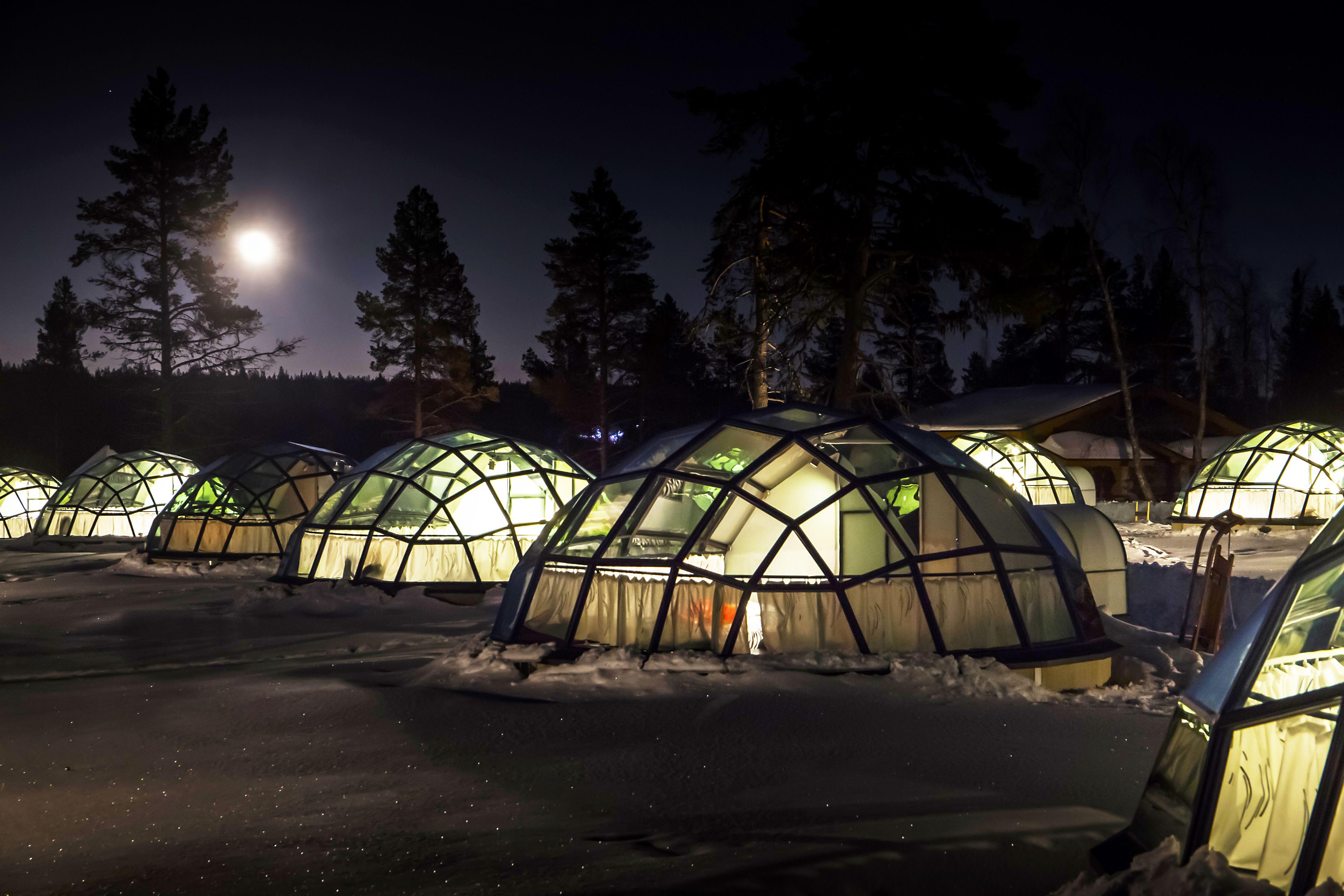 Glass Igloos Kakslauttanen Saariselk Finland