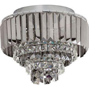 Crystal Prism Flush Ceiling Light Silver Lighting