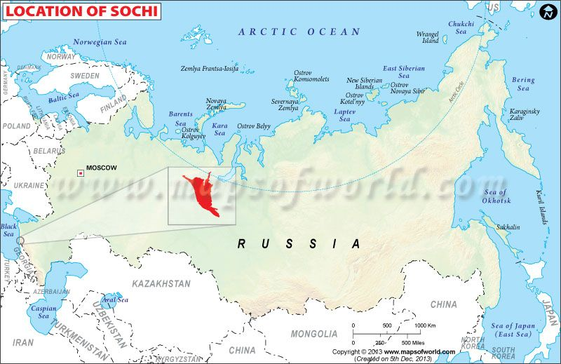 Where is Sochi in Russia? | Maps | Location map, Map ...