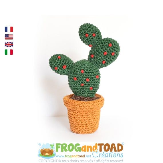 This is our ever popular Cactus from 2014, one of our very first KITS now available in PDF format. This amigurumi cactus would add a bright spot to any desk in need of a little love. - DeviantArt This PDF pattern includes 4 pages with detailed step by step pictures from the making to the assembling.