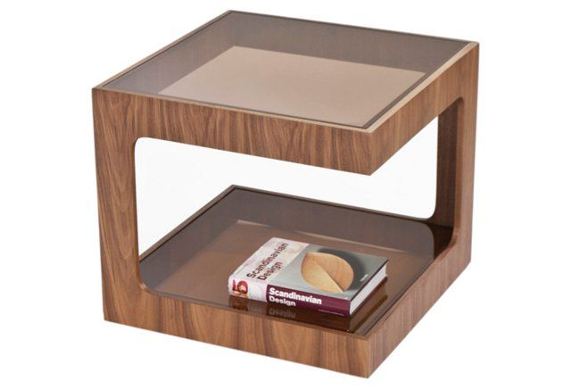 Simon Side Table, Walnut