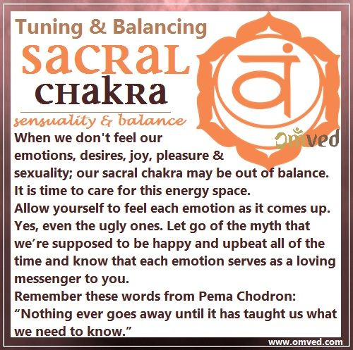 Second (Sacral) Chakra TUNNING - Color: Orange, Location: Lower abdomen Body Parts Governed: Bladder, reproductive organs and kidneys Here we step into the home of our emotions, desires, joy, pleasure and sexuality. This space is a big one, my friends! And it's one where most of us can begin to easily fall out of balance by not feeling what we need to feel and not taking steps towards creating the life we truly desire to live. Her is what you can do to care for this energy space.