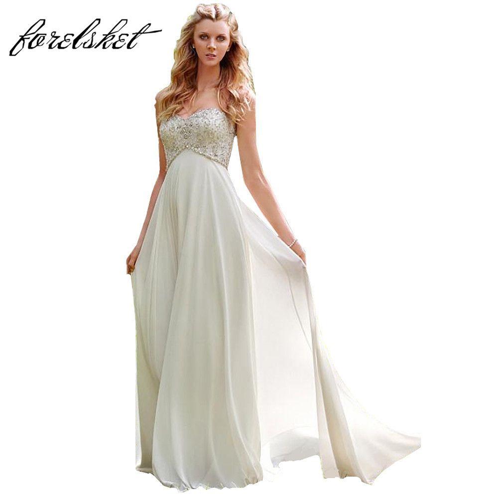 Beach dresses for weddings  Sexy Chiffon A Line Beach Wedding Dresses Vintage Boho Cheap Bridal