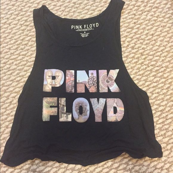 Pink Floyd crop top This is a really cute Pink Floyd Crop top.! It's a small, but my torso is to long for it, so it's way to short for me. I love this shirt, it's super cute and very detailed. Of you're interested let me know the price is negotiable. *Not VS just needed exposure* PINK Victoria's Secret Tops Crop Tops