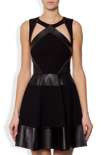 DAVID KOMA - Платье-мини из тонкой шерсти на подкладке в Интернет-магазине NAME'S