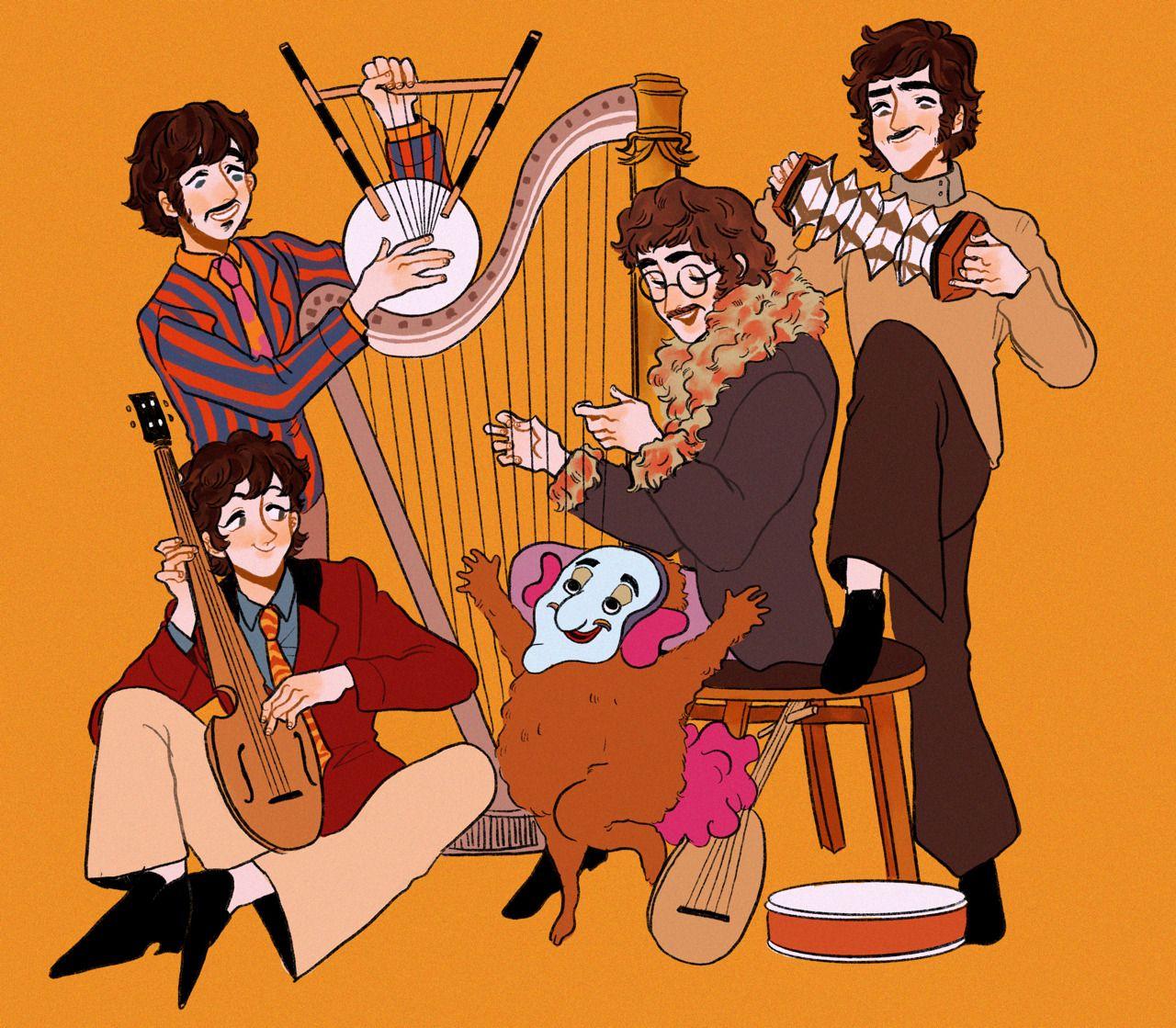 Horror Enthusiast In 2020 Beatles Art Beatles Fan Art Beatles Cartoon