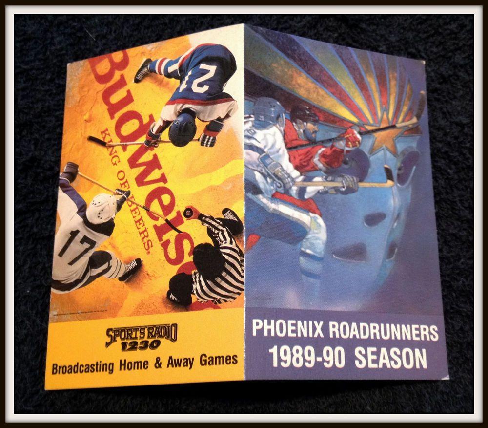 198990 PHOENIX ROADRUNNERS BUDWEISER HOCKEY POCKET