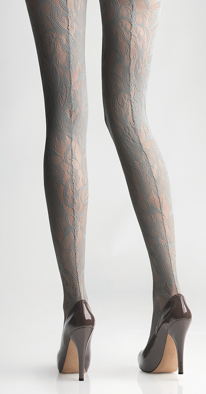 c6f16425e Backseam lace tights. Lovely!!