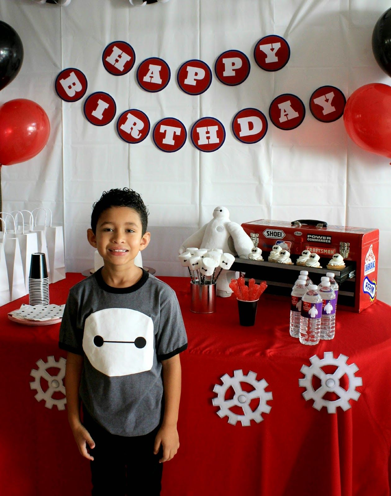 DIY Big Hero 6 Baymax Party Stage Decorations Birthday 1st Parties