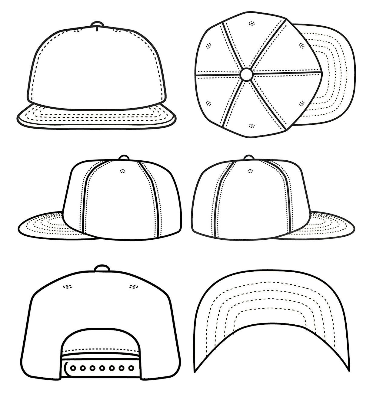 best photos of blank snapback stencil snapback hat template cad sketches pinterest. Black Bedroom Furniture Sets. Home Design Ideas